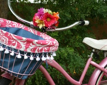 Darling bicycle basket liner for your cruiser bike!