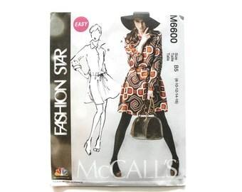 2000 Sewing Pattern - McCalls 6600 - Shirt Dress