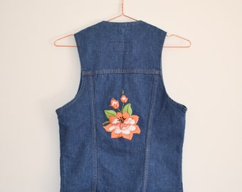 REWORKED Hand Embroidered Vintage Levis Waistcoat