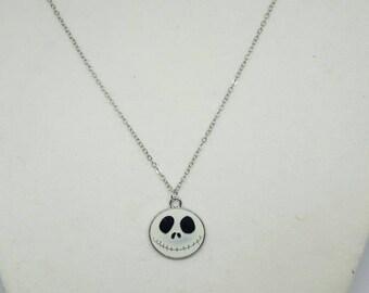 Jack Skellington charm necklace