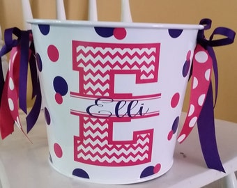 5 Quart Personalized Bucket / Beverage Pail / Gift Basket / Easter Basket