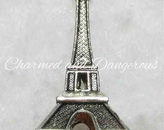 Pewter 3D Eiffel Tower Pendant (P75)