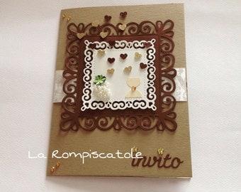 Participation in communion, invitation, card stock