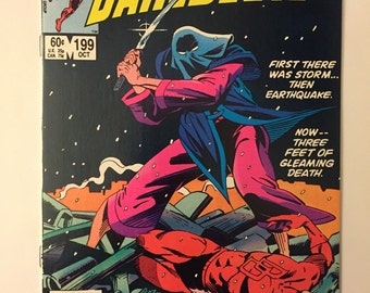 Daredevil #199! Bullseye and Yuriko appearances! High-grade copy! Marvel 1983