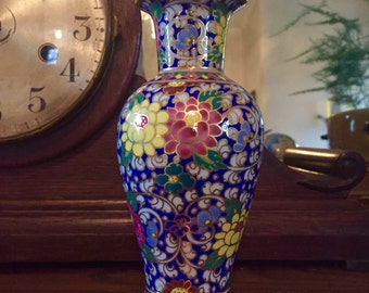 Detailed Flowered Miniature Vase