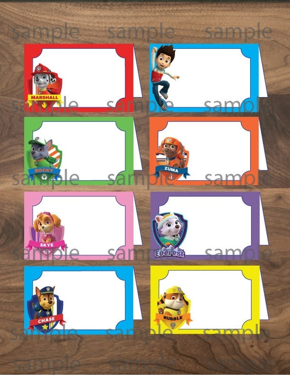 ... -Printable Paw Patrol Labels-Paw Patrol Party- instant download