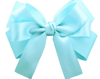 Light Blue,White,Pink,Yellow,Satin Hair Bows, Large Hair Bows for Girls, Big Hair Bow, Large Hair Bow, Special occasion