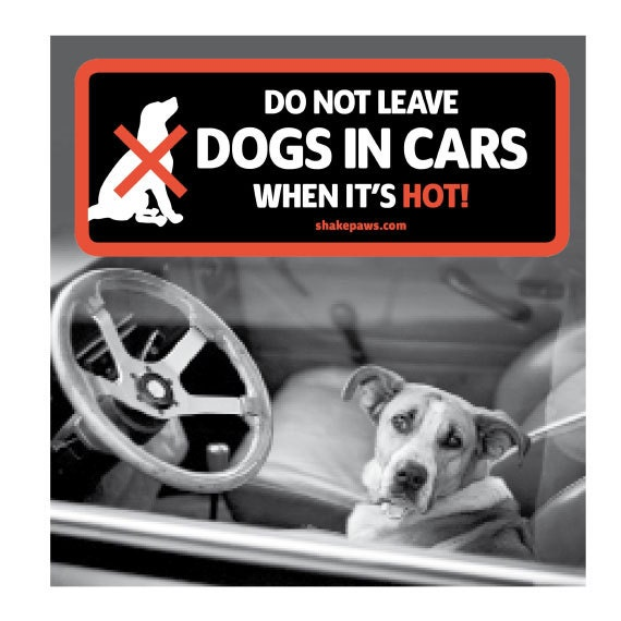 do not leave dogs in cars when its hot car window sticker. Black Bedroom Furniture Sets. Home Design Ideas