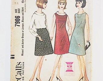 60s Jumper Dress Pattern | McCalls 7906 Dress Pattern | 60s Sewing Pattern