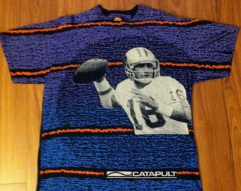 Vintage Joe Montana for LA Gear Catapult Tee L