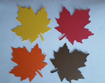 50 Maple Leaves, Fall and Thanksgiving, Teacher Bulletin Boards, Scrapbooking, Card Making, Cupcake Toppers, Crafts, Back To School
