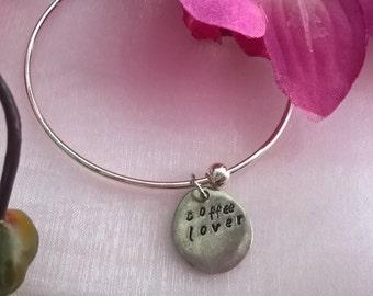 Coffee Lover Charm Bracelet