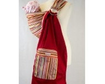 Palm and Pond Ring Sling Baby Carrier - Coloured Stripes