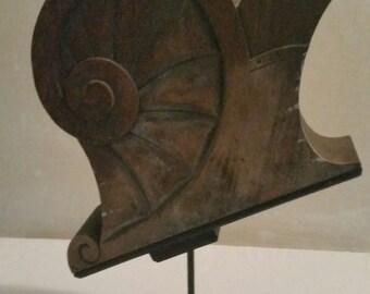 Wooden Ship Fragment Sculpture