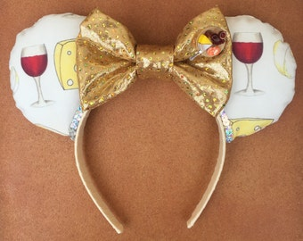Disney Epcot Wine and Food Festival Wine and Cheese Minnie Mouse Ears