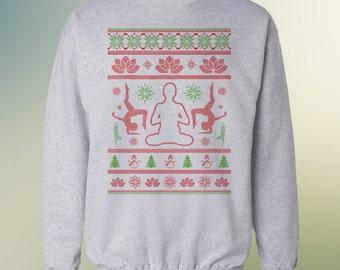 Yoga and Namaste - Ugly Christmas Sweater