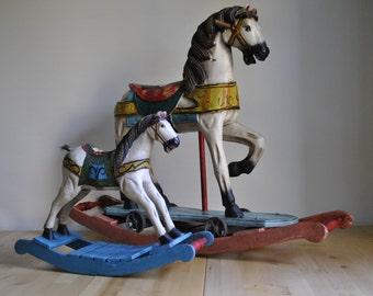 Small decorative old rocking horse