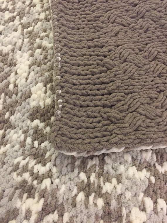 Reversible Cable Knit Afghan Pattern : Reversible cable afghan