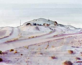 Violet Hill of Desert