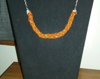 Orande braided bead necklace