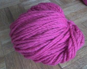 Bulky Merino Wool Yarn Dyed Rose Pink