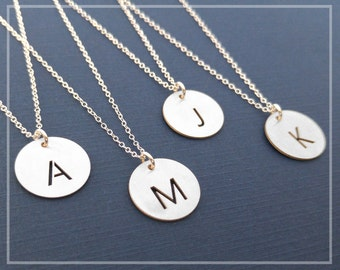 Tiny Name Necklace, Any Name Initial Necklace, Mom Initial Necklace Silver Necklace, Initial Monogram