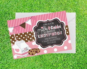 Cookies and Milk Birthday Party Chalkboard