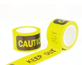 caution - yellow 15mm x 10m japanese masking tape