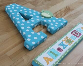 Wall letters, wall lettering, Nursery letters