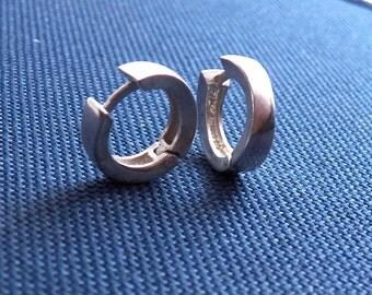 Men's hoop earrings, men's sterling silver earrings, male earrings, earrings for Guys