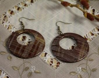 Wood earrings wood jewelry