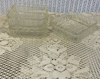 Square Glass Tray with Scalloped Edges