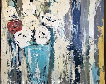 Floral Still Life | Original Acrylic on Canvas