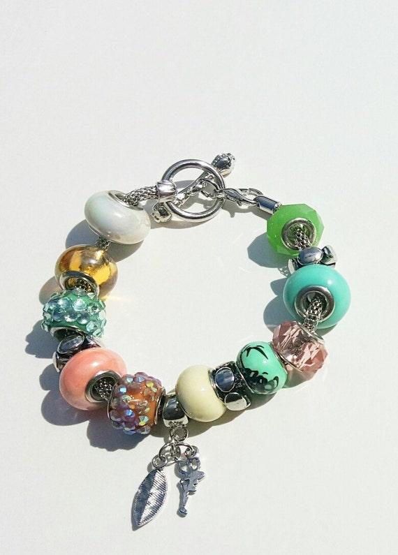 Beaded braclets, charm braclet, Glass bead braclet, charm bangle, green bead braclet, womens braclet, womens charm braclet, gifts for her,