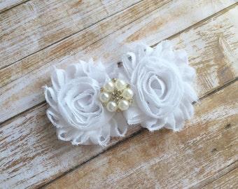 Wedding Hair Clip/White Hair Clip/Bridal Hair Clip/Flower Hair Clip/Bridal Hair Piece/Flower Girl Clip/Bridal Headpiece/First Communion Clip