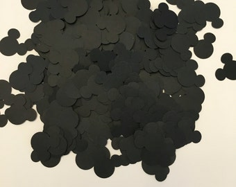 300 Pieces of Black 1 inch Mickey Mouse Head Confetti Mickey Mouse Clubhouse