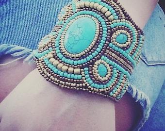 Bead Emroidered Bracelet