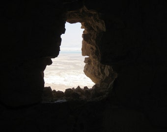 "Window from Masada 24"" x 36"" Canvas Print"
