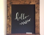 Large Distressed Chalkboard Sign, Rustic Chalkboard Sign, Farmhouse Style, Handmade Chalkboard Sign, Rustic Frame, Gallery Wall