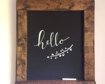 Large Distressed Chalkboard Sign
