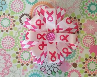 Cancer awareness bow