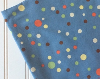 Michael-Miller-Fabric-By-The-Yard-Party-Dots-Blue-Lime-Orange-Cream-Brown-Cotton-Quilting-Fat-Quarters-Sewing-DIY-Projects-Crafts-Supplies