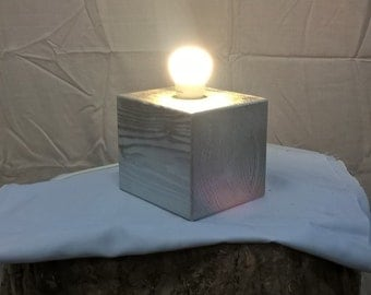 Silver wood cube