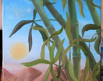 "Original Oil Painting. ""Bamboo"""