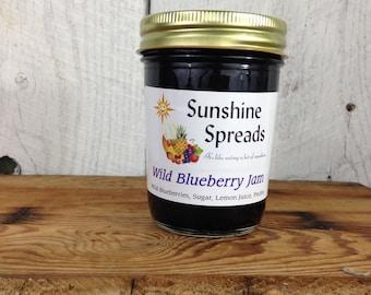 Wild Blueberry Jam, 8 Ounce Jar, Amish Made