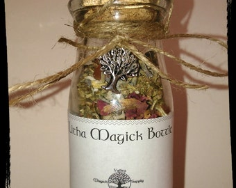 Litha Magick Bottle * Summer Solstice / Midsummer * Filled with Stones, Crystals and Herbs