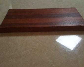 Solid jarrah cutting board