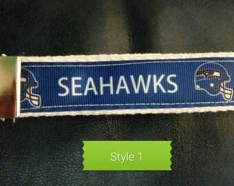 Seattle Seahawk key fob wristlets