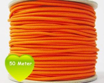 50 M rubber cord 3 mm orange