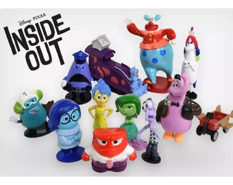 Mister A Gift Inside Out set of 12 Plastic Cake toppers